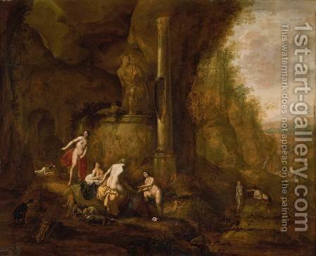 Diana Bathing by Abraham van Cuylenborch - Reproduction Oil Painting