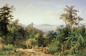 Reproduction oil paintings - Thomas Ender - View of Rio de Janeiro