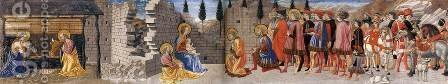 Nativity and Adoration of the Magi by Giovanni di Francesco del Cervelliera - Reproduction Oil Painting