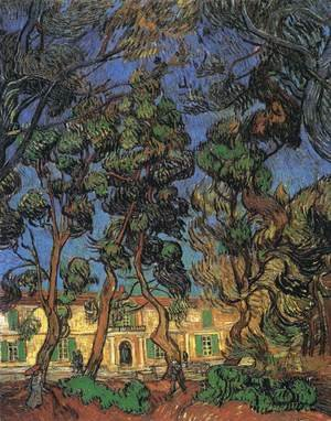 Famous paintings of Trees: Trees in the Garden of Saint-Paul Hospital