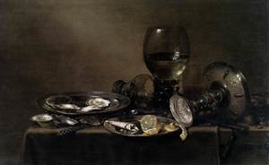 Still-Life with Oysters, a Silver Tazza, and Glassware