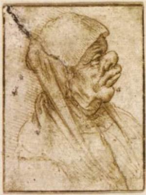 Reproduction oil paintings - Leonardo Da Vinci - Caricature of an Old Woman