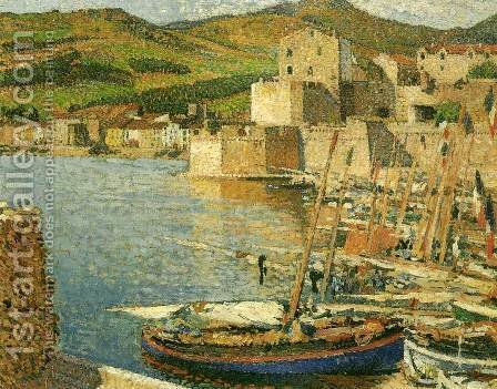 The Harbour of Collioure by Guillaume Martin - Reproduction Oil Painting