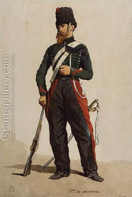 Study of Soldier by Isidore Alexandre Augustin Pils - Reproduction Oil Painting