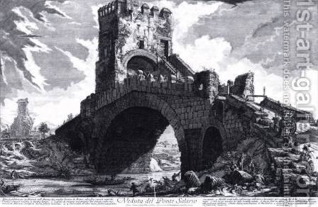 The Ponte Solario by Giovanni Battista Piranesi - Reproduction Oil Painting