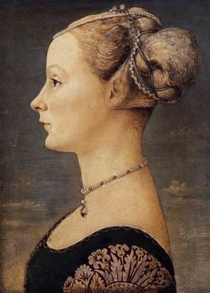Reproduction oil paintings - Antonio Pollaiolo - Portrait of a Lady