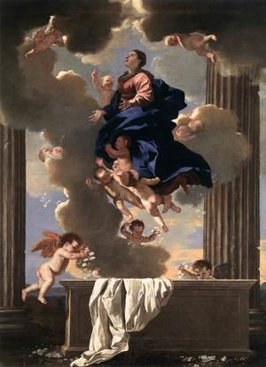 Reproduction oil paintings - Nicolas Poussin - Assumption of the Virgin