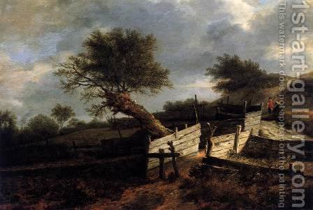 The Plank Fence by Isaak van Ruisdael - Reproduction Oil Painting