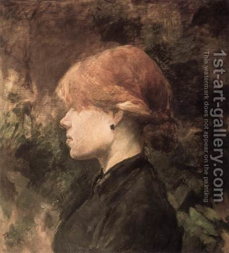 Young Woman with Red Hair by Toulouse-Lautrec - Reproduction Oil Painting