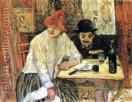 After the Meal by Toulouse-Lautrec - Reproduction Oil Painting