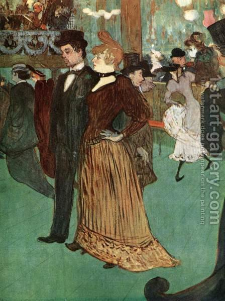 At the Moulin Rouge or The Promenade by Toulouse-Lautrec - Reproduction Oil Painting