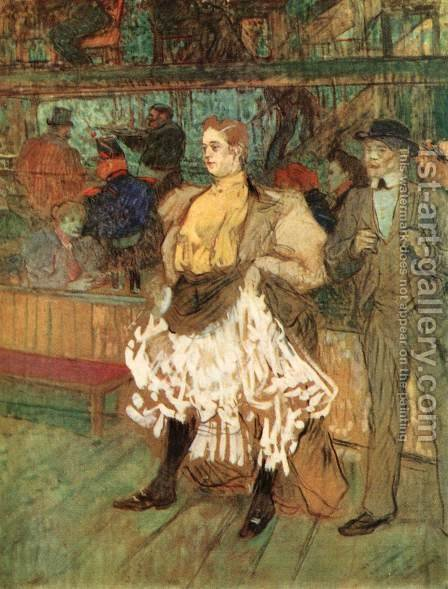 At the Moulin Rouge 2 by Toulouse-Lautrec - Reproduction Oil Painting