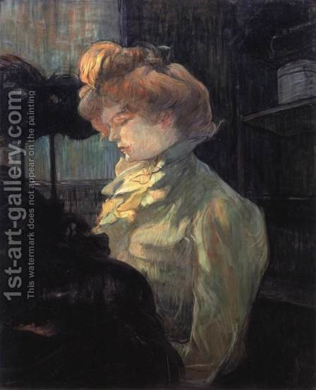 The Milliner, Mlle Louise Blouet by Toulouse-Lautrec - Reproduction Oil Painting