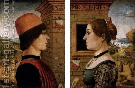 Portrait of a Man, Portrait of a Woman by Italian Unknown Masters - Reproduction Oil Painting