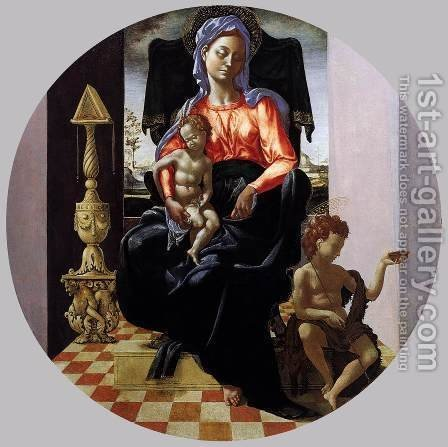 Virgin with the Christ Child and the Infant St John by Italian Unknown Masters - Reproduction Oil Painting