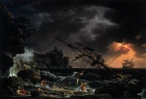 Famous paintings of Ships & Boats: The Shipwreck