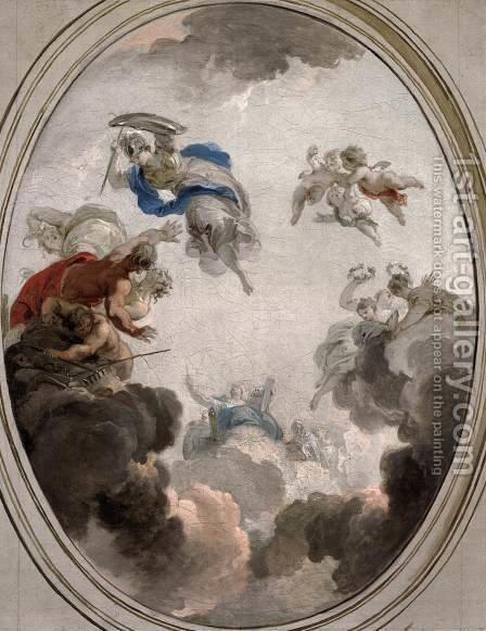 Allegory of Government Wisdom Defeating Discord by Jacob de Wit - Reproduction Oil Painting