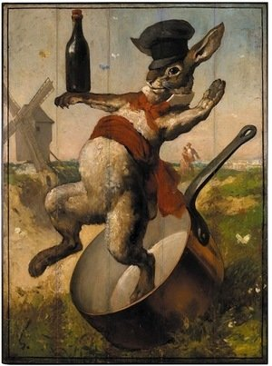 Famous paintings of Animals: Lapin Agile Cabaret In Paris France