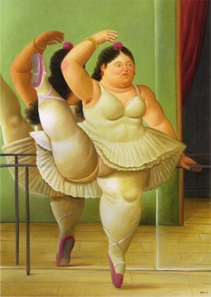 Reproduction oil paintings - Fernando Botero - Dancers at the Bar, 2001
