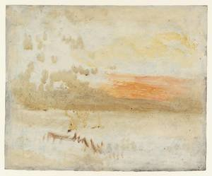 Reproduction oil paintings - Turner - Sunset Seen from a Beach with Breakwater