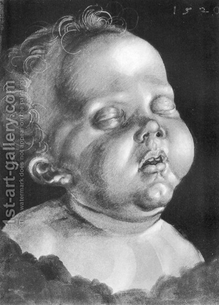 Head of a child by Albrecht Durer - Reproduction Oil Painting