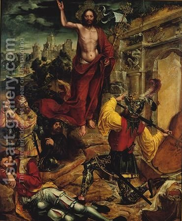Ressurreicao de Cristo by Gregorio Lopez - Reproduction Oil Painting