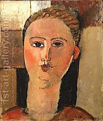 Redhead girl by Amedeo Modigliani - Reproduction Oil Painting