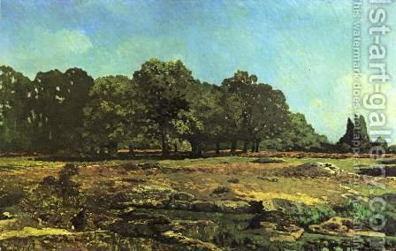 Avenue of Chestnut Trees near La Celle Saint Cloud by Alfred Sisley - Reproduction Oil Painting