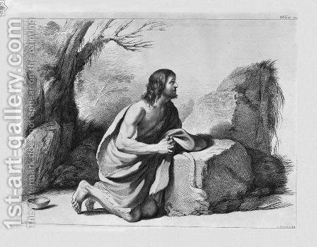 St. John the Baptist in prayer, by Guercino by Giovanni Battista Piranesi - Reproduction Oil Painting