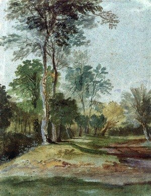Famous paintings of Trees: Avenue in the country