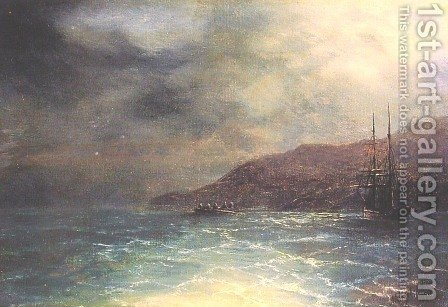 Nocturnal voyage 2 by Ivan Konstantinovich Aivazovsky - Reproduction Oil Painting