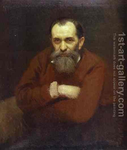 Portrait of the Artist Vasily Perov by Ivan Nikolaevich Kramskoy - Reproduction Oil Painting
