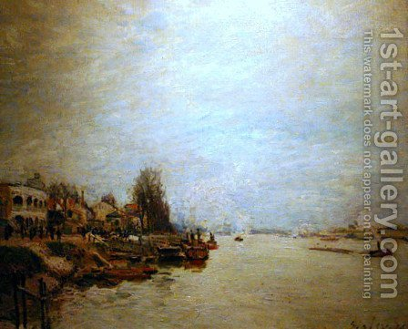Dawn by Alfred Sisley - Reproduction Oil Painting