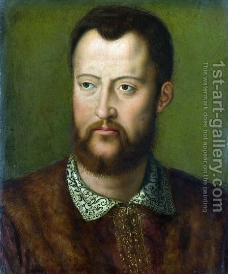 Portrait of Cosimo I de' Medici by Agnolo Bronzino - Reproduction Oil Painting