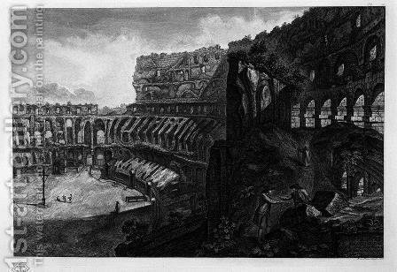 Interior view of the Colosseum by Giovanni Battista Piranesi - Reproduction Oil Painting