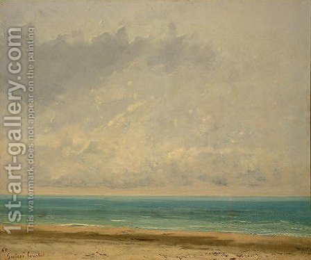 Calm Sea by Gustave Courbet - Reproduction Oil Painting