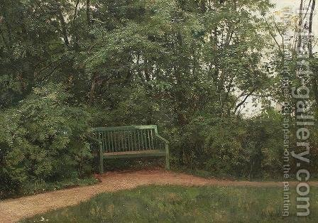 Bench at the mall by Ivan Shishkin - Reproduction Oil Painting