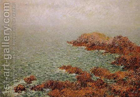 The Red Rocks by Gustave Loiseau - Reproduction Oil Painting