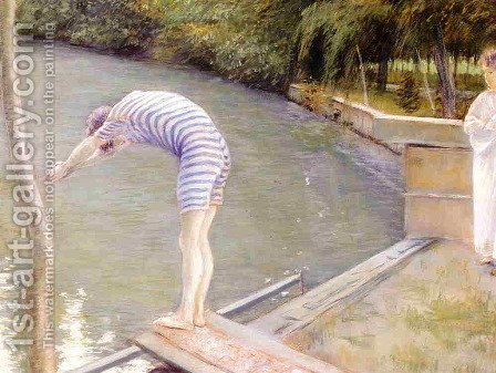 The Bather, or The Diver by Gustave Caillebotte - Reproduction Oil Painting