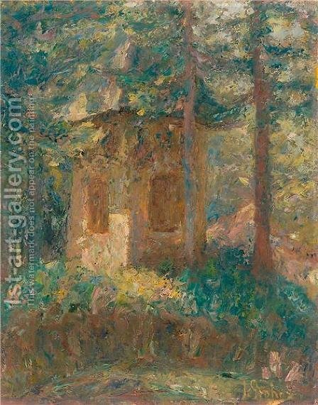 Chapel by Ivan Grohar - Reproduction Oil Painting