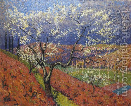 Trees in Flower by Henri Martin - Reproduction Oil Painting