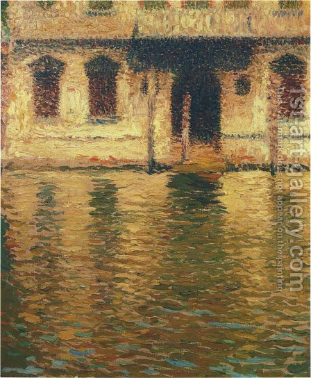 View of the Palace in Venice by Henri Martin - Reproduction Oil Painting