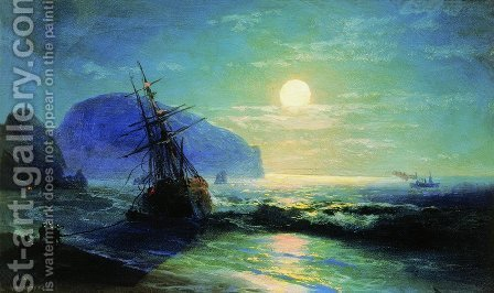 Shipwreck near Gurzuf by Ivan Konstantinovich Aivazovsky - Reproduction Oil Painting