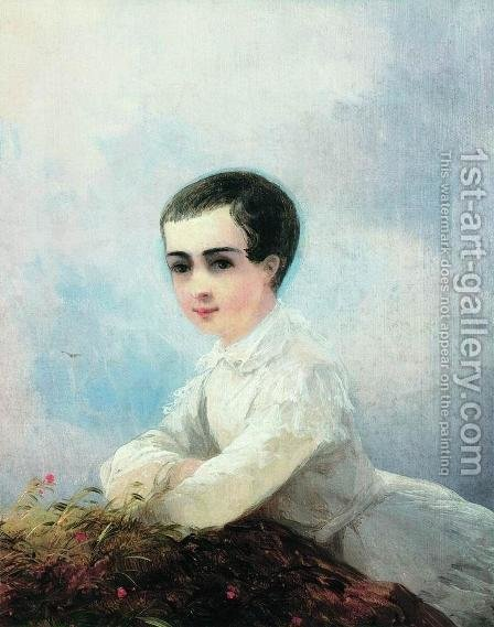 Portrait of I. Lazarev by Ivan Konstantinovich Aivazovsky - Reproduction Oil Painting