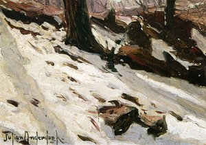 Reproduction oil paintings - Julian Onderdonk - Snow near the Cave, Central Park, New York