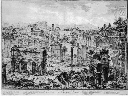 Vedute di Roma 11 by Giovanni Battista Piranesi - Reproduction Oil Painting