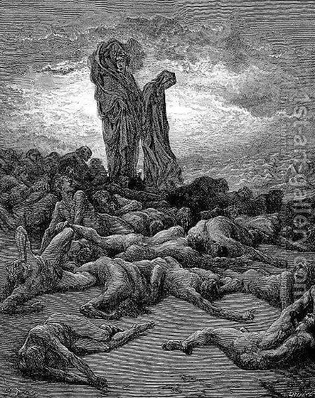 The Avaricious by Gustave Dore - Reproduction Oil Painting