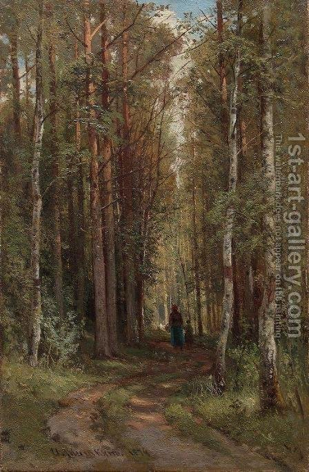 Forest Landscape 2 by Ivan Shishkin - Reproduction Oil Painting
