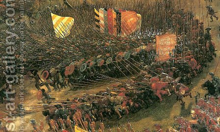 The battle of Issus(fragment) by Albrecht Altdorfer - Reproduction Oil Painting