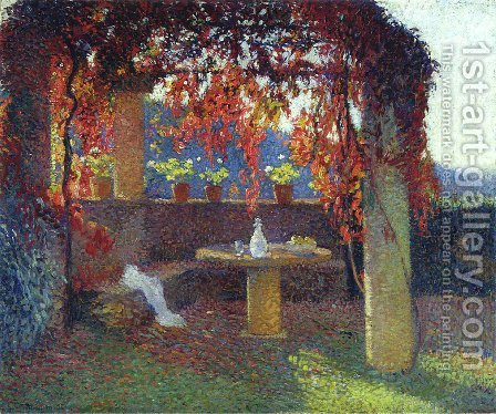 The Pergola by Henri Martin - Reproduction Oil Painting